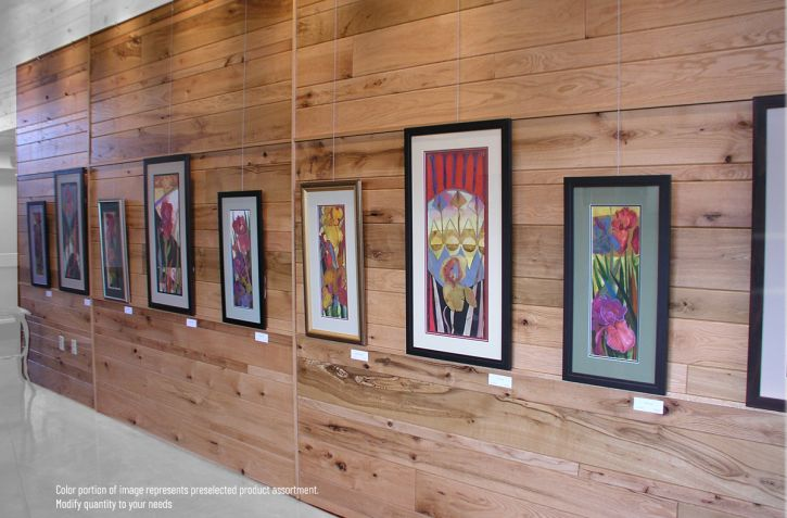 Picture Hanging System protects Oak covered Walls