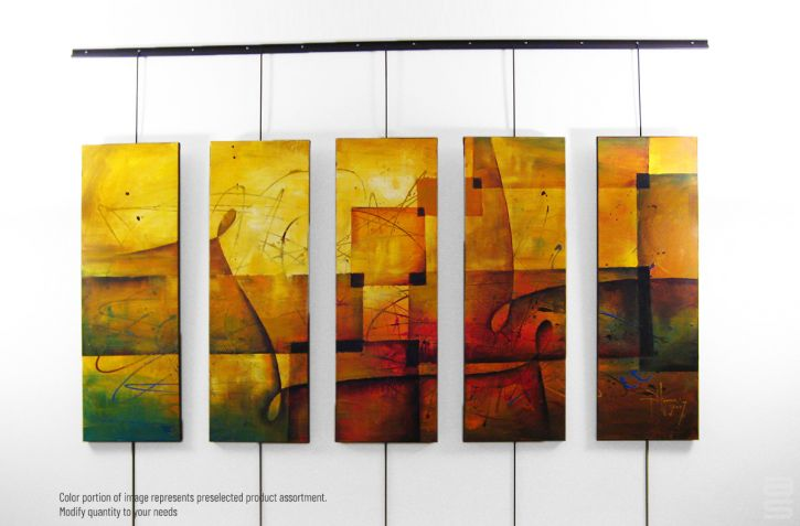 Gallery Wall Hanging displays art of your choice