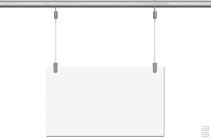Loop Hanger  - Covid-19 Protection Kit - Hanging System for Plexiglass / Glass