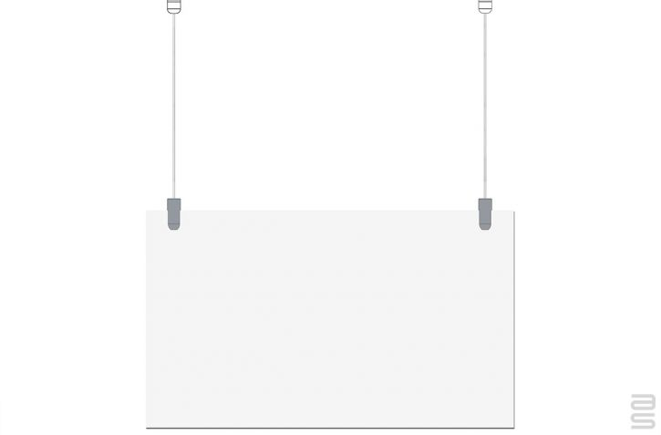 Covid-19 Protection Kit - Hanging System for Plexiglass / Glass - Fixed Pier