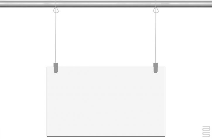 Loop End Cable - Covid-19 Protection Kit - Hanging System for Plexiglass / Glass