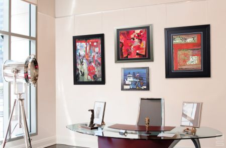 Collect art, use a gallery hanging system to show