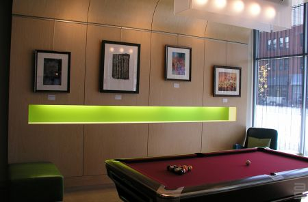 Picture Hanging Systems in Aloft Hotel lobbies