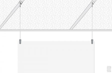 Drop Ceiling Hanger T Bar - Covid-19 Protection Kit - Hanging System for Plexiglass / Glass