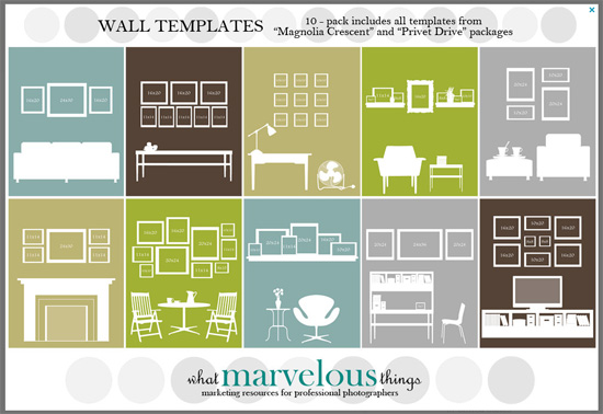 What Marvelous Things wall display template 10 pak by Etsy.com