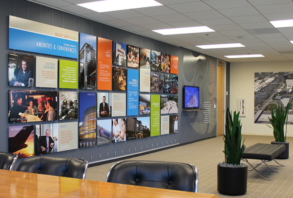 AS Hanging Systems Panel Hooks play an important role at Irvine Company Marketing Offices.