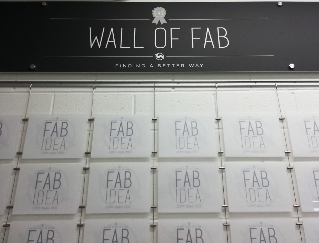 Pocket Display System by AS Hanging Systems Supports Wall of FAB