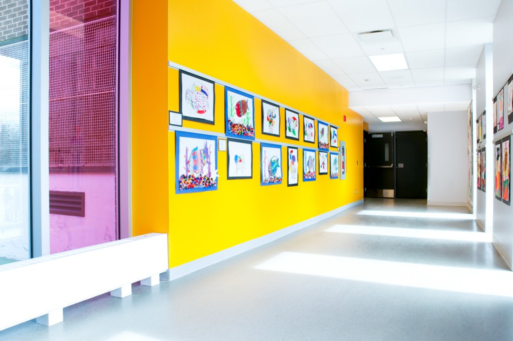 Displaying students' art safely with Casso® Display Rail.