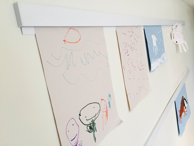 Displaying Children's Artwork Without Sharps, Tape, or Magnets