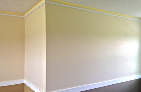 Mount Click Rail Track Behind Crown Molding During a Room Make Over