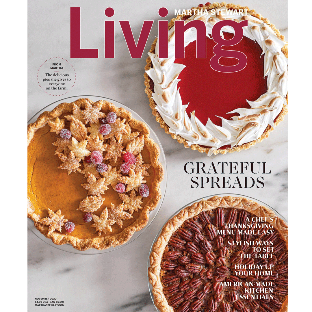 Find our products in Martha Stewart Living Magazine November 2020!