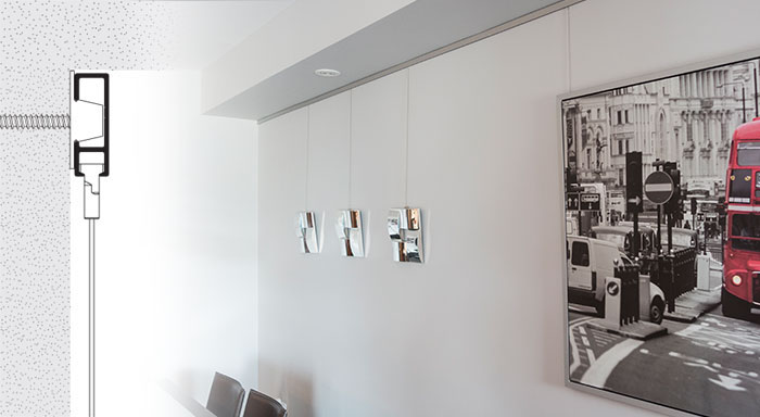 Wall Mounted Picture Hanging Systems
