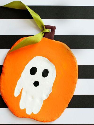 Halloween Clay Handprint Keepsake