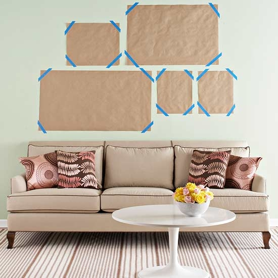 BHG.com Decorating Home Accessories Wall Art/How to arrange art