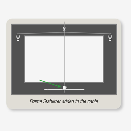 "How to stop ""face forward"" frame tilt by using a frame stabilizer by AS Hanging Display Systems"