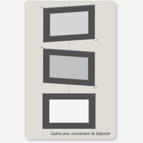 Eliminate picture frame teeter-totter in vertical hanging format by ashanging.com.