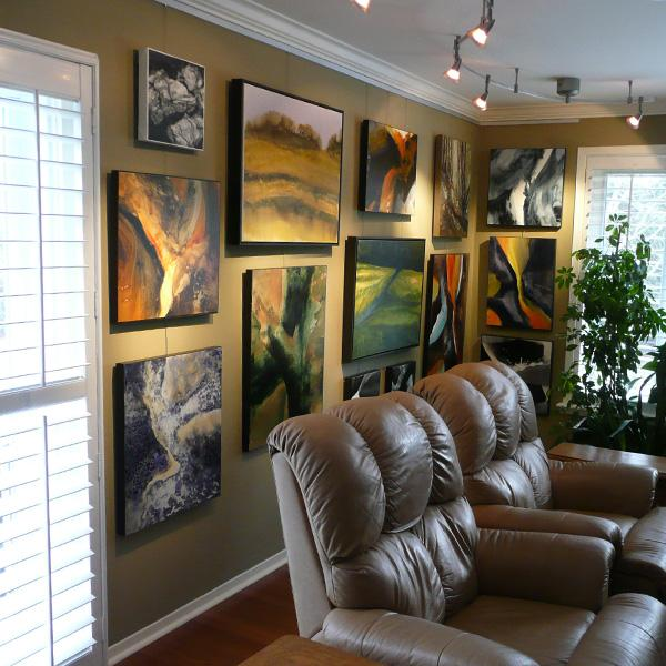 Art Wall Grouping Using Click Rail System by AS Hanging Systems