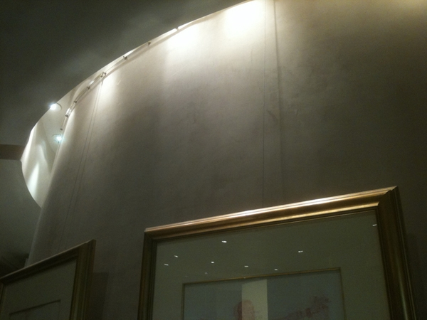 Contempo System Track deployed on a curved wall