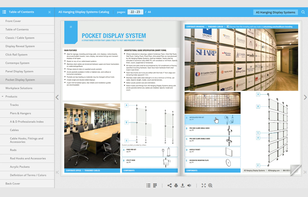 AS Hanging Display Systems Interactive Web Catalog