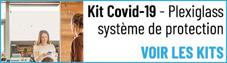 Kit Covid-19 - Plexiglass système de protection