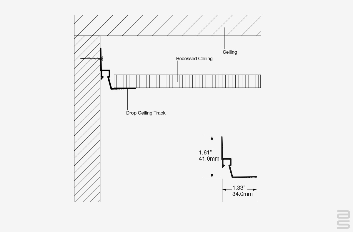 Drop Ceiling Track