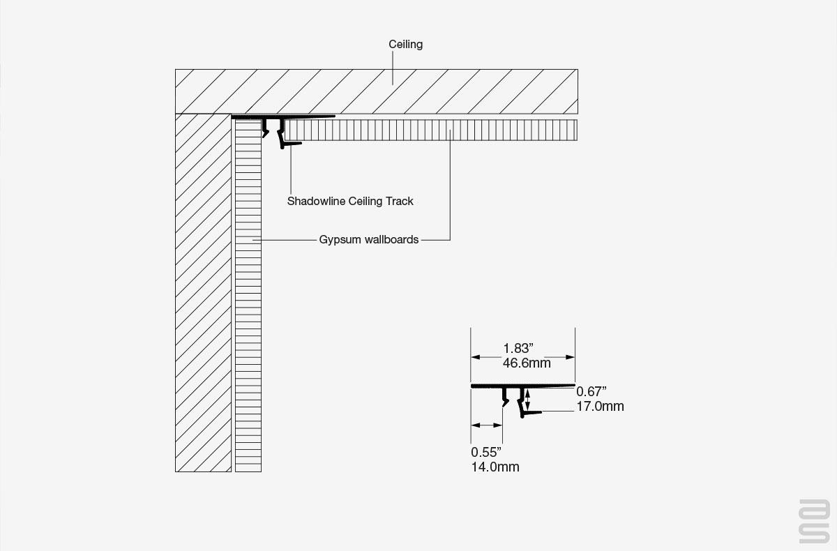 Shadowline Ceiling Track