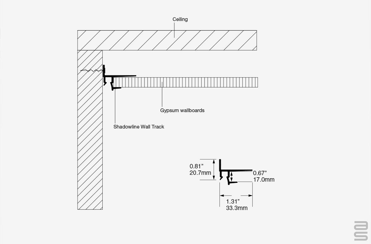 Shadowline Wall Track