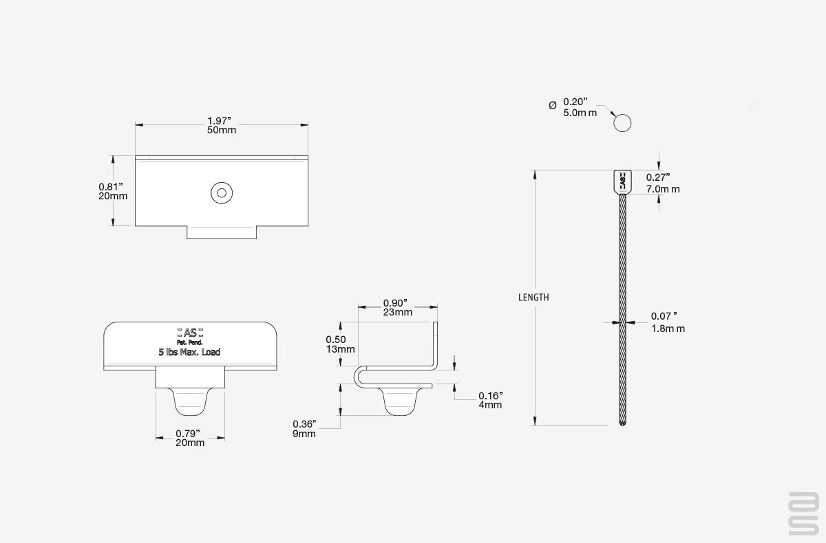 Grid Ceiling Wall Hanger Kit Specs