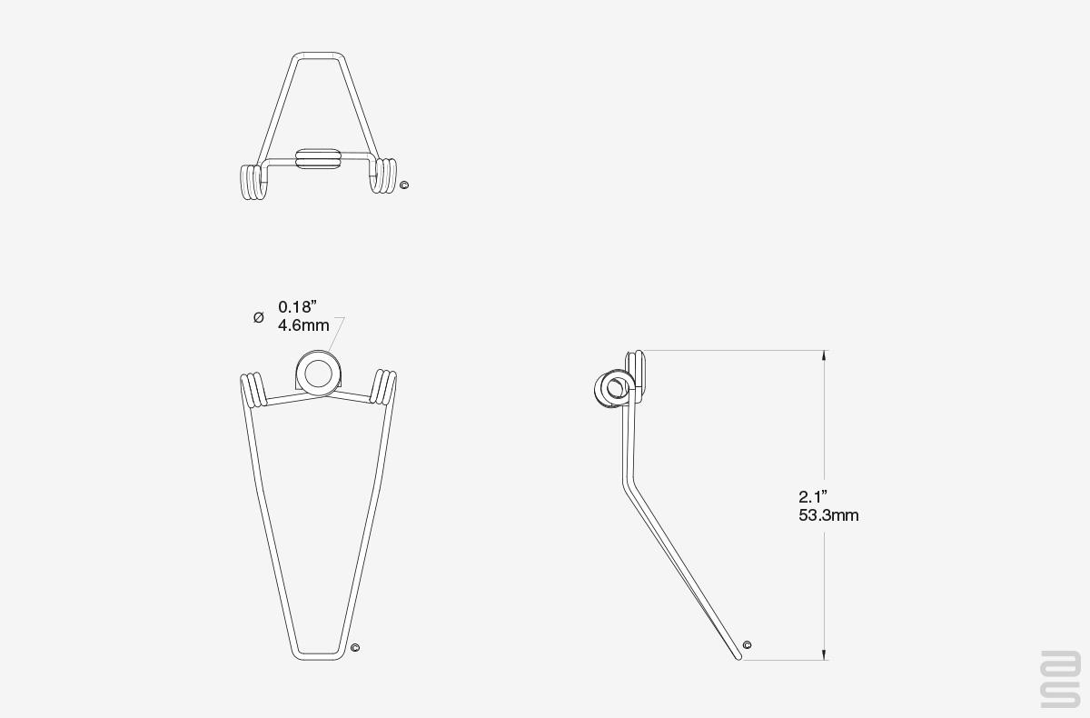 Spring Clip for Frames Spec Sheet