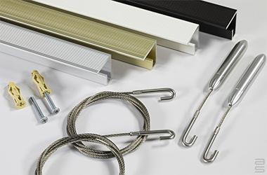 Kit rail plafond Classic en tension