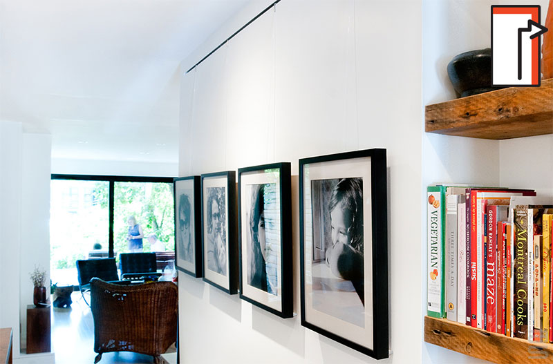 PICTURE HANGING SYSTEM TRACK WITH DESIGN SUBTLETY