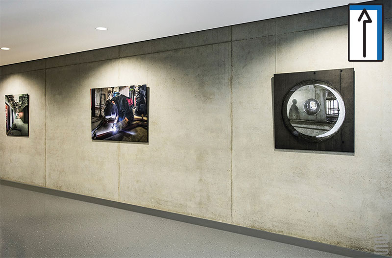 HANGING ART ON CONCRETE WALLS IS A CHALLENGE
